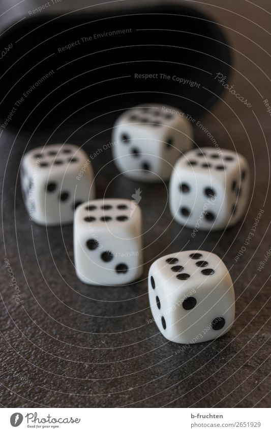 dice poker Plastic Digits and numbers Movement Playing Happy Black White Money Game of chance Poker Dice 6 Casino Throw dice Playful Gambler Lucky number
