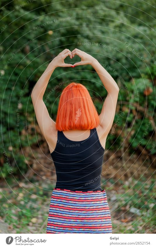 Girl making a heart shape symbol Woman Human being Sky Nature Summer Blue Beautiful Hand Black Adults Love Family & Relations Happy Freedom Friendship Heart