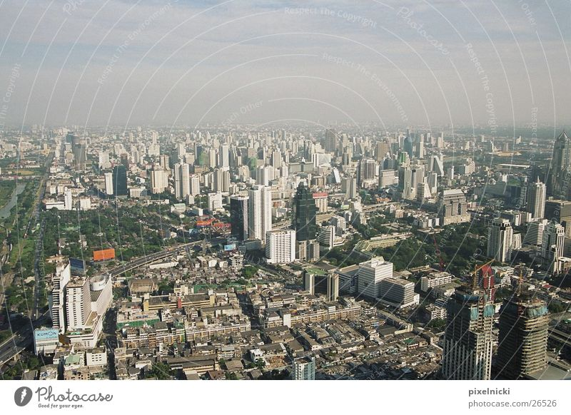 Bangkok Thailand Bird's-eye view Architecture Graffiti Town
