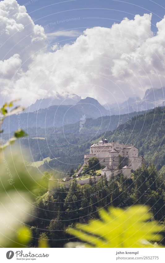 III Hohenwerfen Castle - The Decision Medieval times Knight Historic Tower Sky Clouds Fortress Salzburger Land Forest Exterior shot Tourist Attraction Landmark