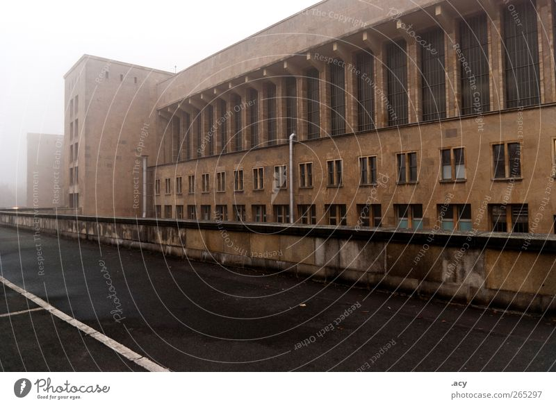 temple courtyard Berlin Germany Europe Town Industrial plant Factory Airport Building Architecture Wall (barrier) Wall (building) Facade Tempelhof Old Esthetic