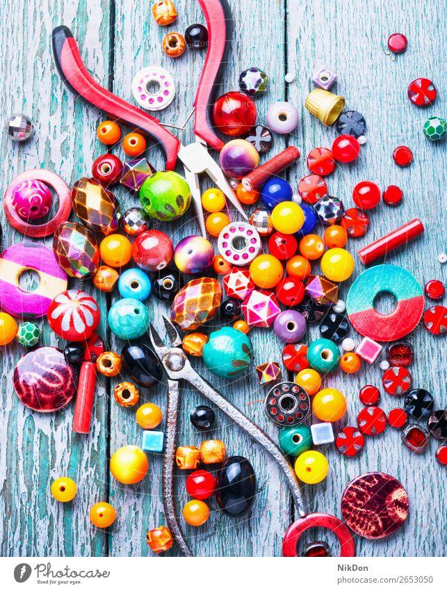 Making jewelry of beads decoration craft handmade accessory beading fashion colorful Czech glass glass beads design macro stone hobby art style necklace
