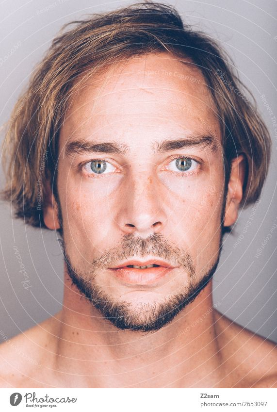 Facetime - natural Beautiful Masculine Young man Youth (Young adults) 18 - 30 years Adults 30 - 45 years Brunette Long-haired Facial hair Natural Original Power