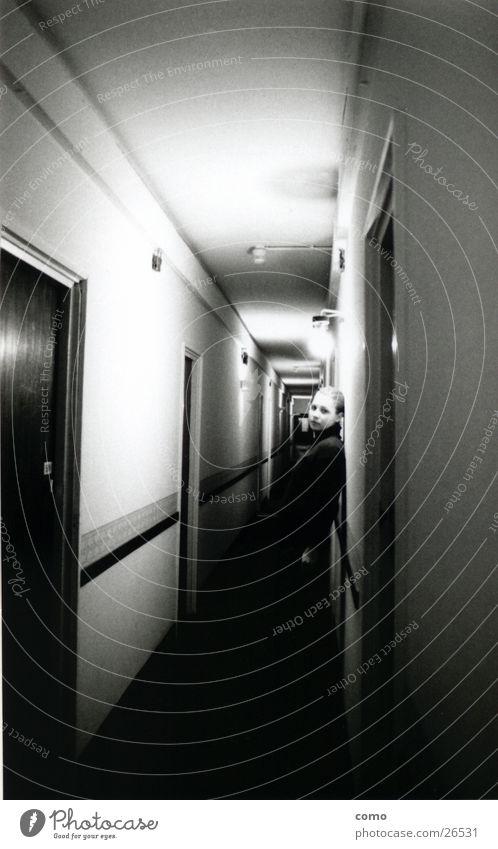 Woman Room Hotel Hallway