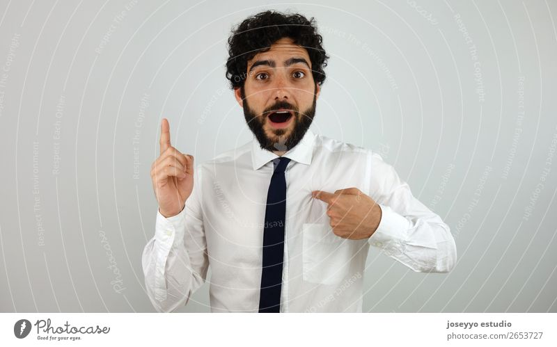 Good idea! Man Lifestyle Adults To talk Business Think Work and employment Illuminate Communicate Elegant Telecommunications Happiness Success Fingers