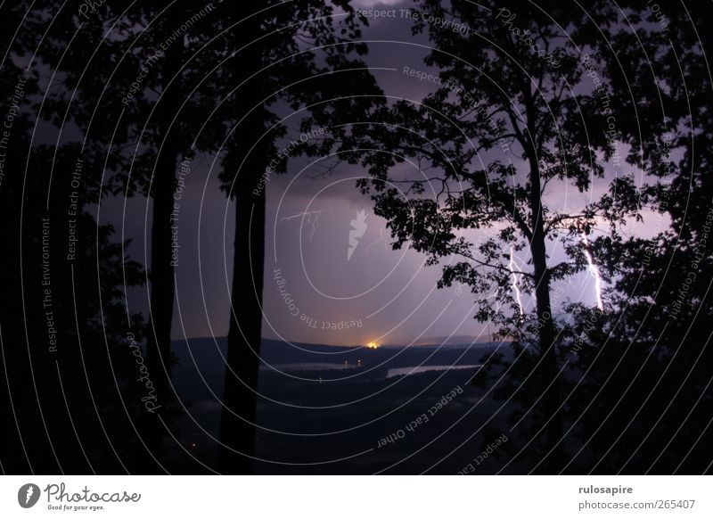 Sky Nature Black Forest Landscape Dark Mountain Air Rain Weather Fear Dangerous Elements Threat Hill Violet