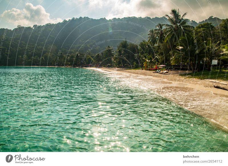 paradise | perhentian besar Sun romantic To enjoy Longing Sunbeam Back-light Sky Dawn Sunrise Sunset Beach Dream Clouds Waves Ocean Light Contrast especially
