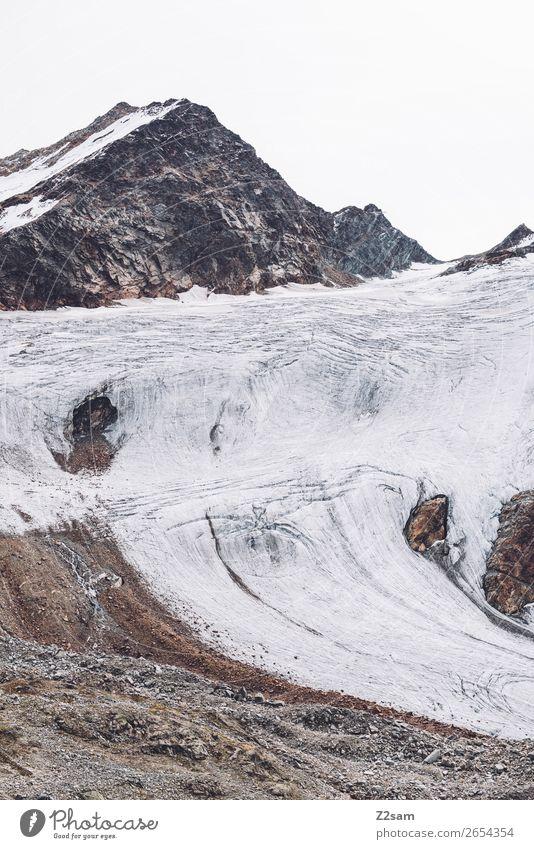 Rettenbach glacier in summer | E5 Mountain Environment Nature Landscape Summer Autumn Climate Climate change Ice Frost Snow Rock Alps Snowcapped peak Glacier