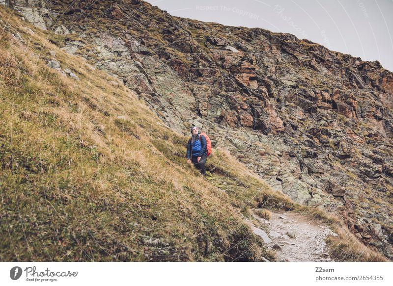 Pitztaler Jöchl | E5 Adventure Hiking Human being Nature Landscape Autumn Alps Mountain Glacier Wait Gigantic Tall Athletic Self-confident Power Contentment