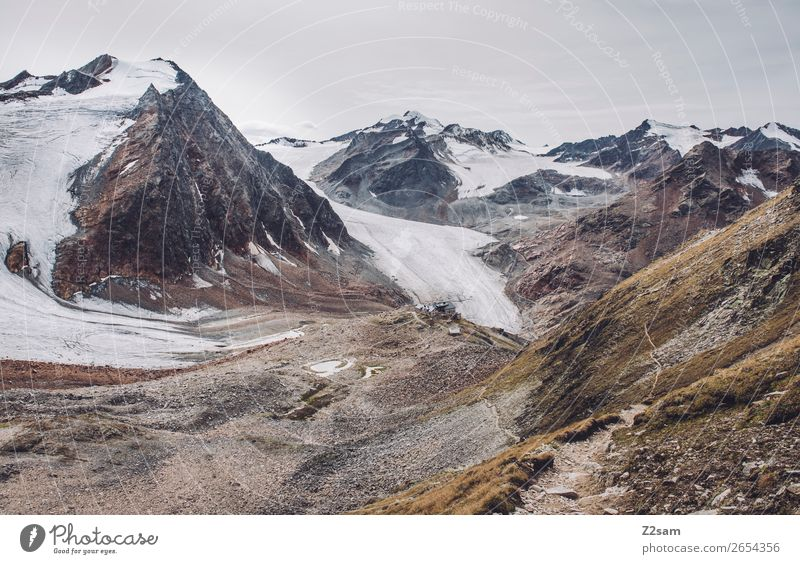 Nature Landscape Calm Far-off places Mountain Autumn Environment Cold Natural Hiking Ice Adventure Tall Peak Alps Frost