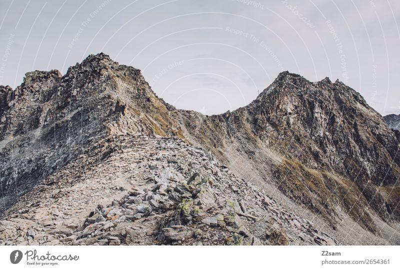 Sky Nature Landscape Loneliness Far-off places Mountain Autumn Environment Natural Rock Hiking Adventure Tall Peak Alps Austria