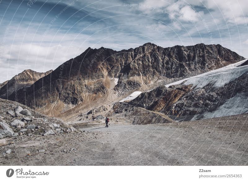 Sölden | Rettenbach Glacier | E5 Adventure Expedition Hiking Human being Nature Landscape Autumn Alps Mountain Peak Natural Athletic Loneliness Climate