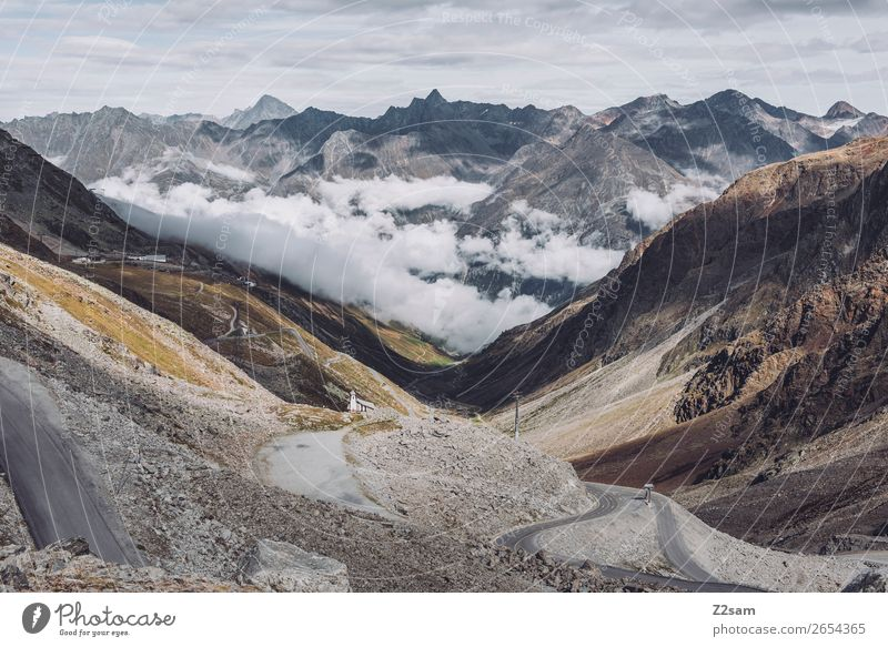 Rettenbach Glacier | Sölden | E5 Mountain Hiking Nature Landscape Clouds Autumn Alps Street Gigantic Tall Natural Idyll Climate Sustainability Vacation & Travel