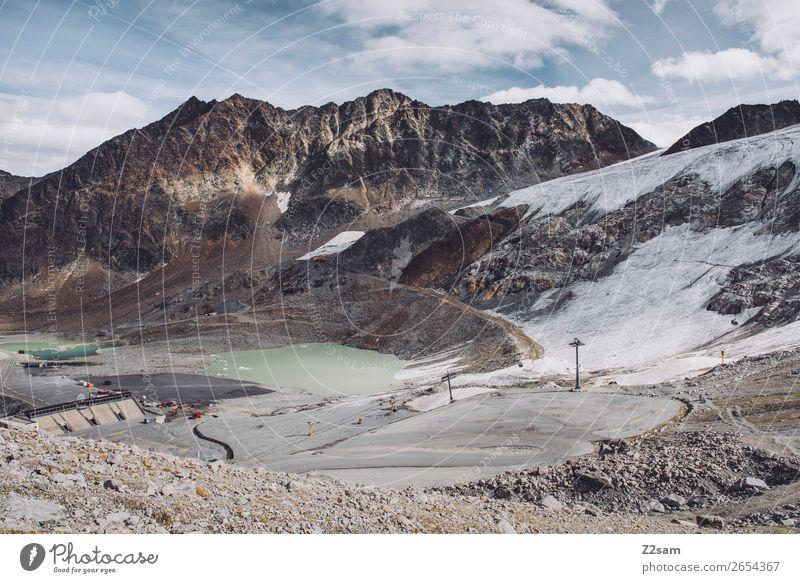 Rettenbach Glacier | Sölden | E5 Hiking Nature Landscape Autumn Ice Frost Snow Alps Mountain Peak Street Gigantic Gloomy Loneliness Society Climate
