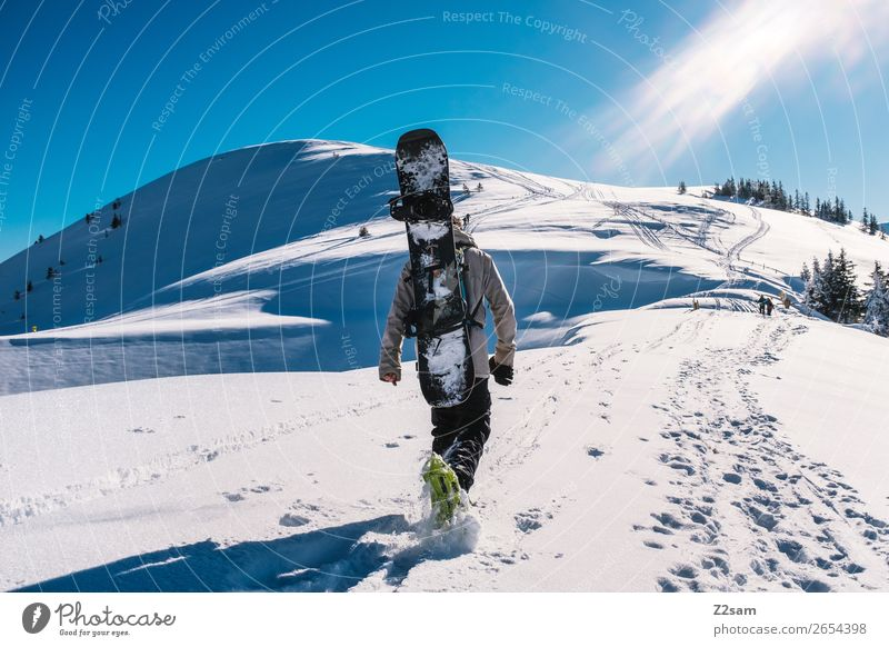 Tourers. Freeriders. Lifestyle Style Vacation & Travel Expedition Winter Mountain Hiking Winter sports Snowboard Snow shoes Masculine Environment Nature