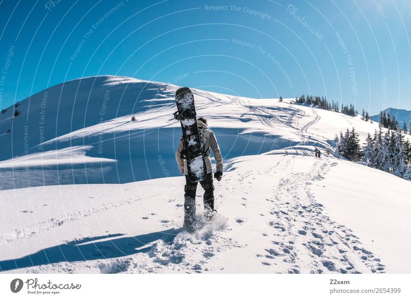 Tourers | Freeride Mountain Hiking Winter sports Snowboard Masculine Nature Landscape Sky Summer Beautiful weather Alps Going Sports Cool (slang) Hip & trendy