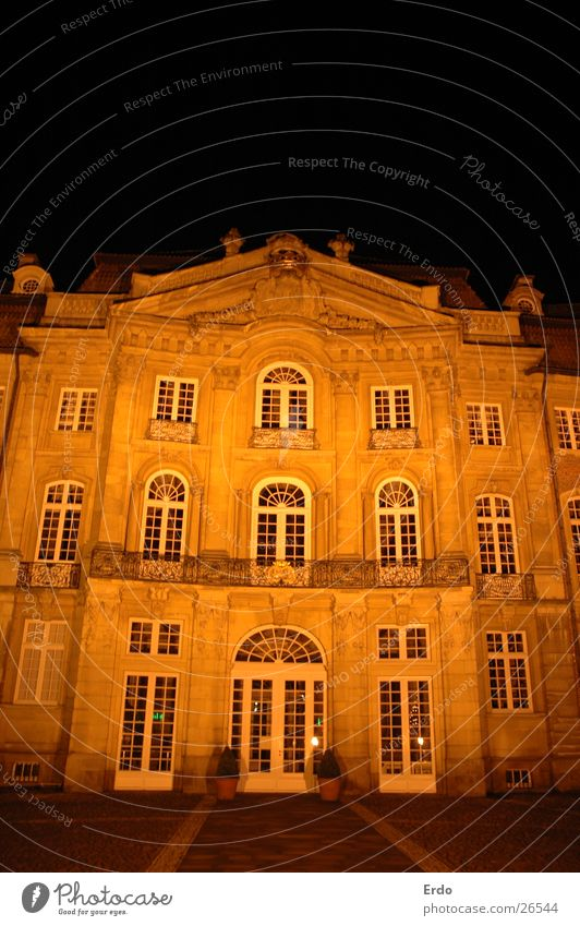 House (Residential Structure) Dark Building Architecture Facade Historic Münster Night shot