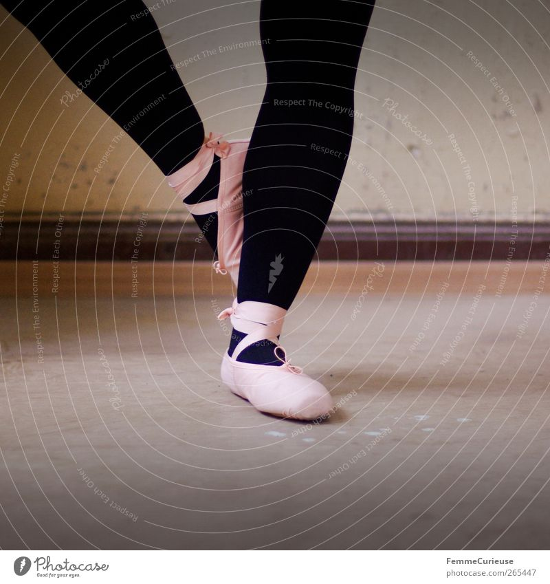 Ballet VIII. Artist Dance Dancer Esthetic Movement Ballet shoe Pink Black Tights Posture Balance Sports Training Practice One-legged Stand Articulated Dexterity