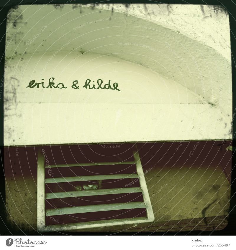 Erika & Hilde Restaurant Athletic Green Happy Life Colour photo Subdued colour Exterior shot Deserted Day Worm's-eye view