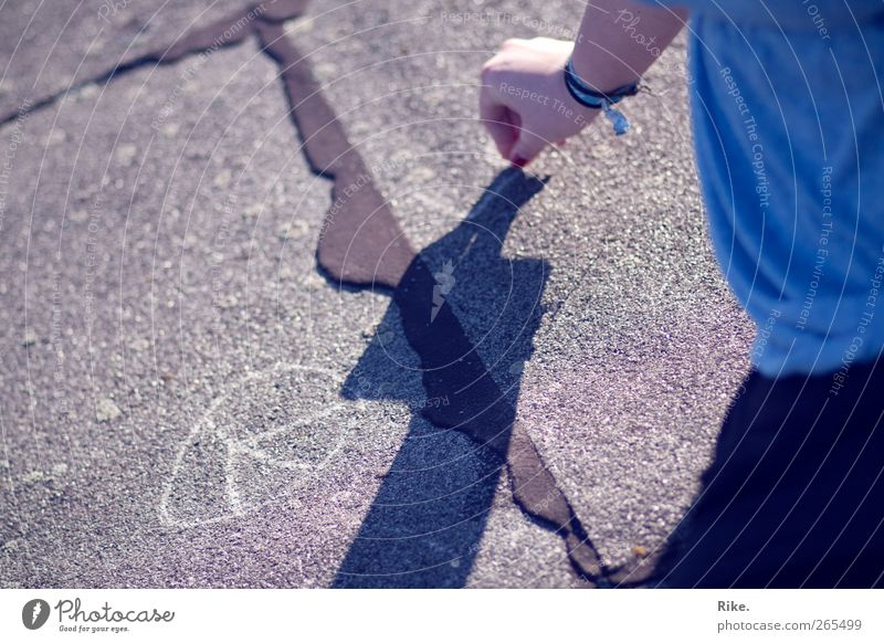 Human being Child Youth (Young adults) Hand Joy Street Life Playing Stone Art Infancy Young woman Desire Creativity Sign Peace
