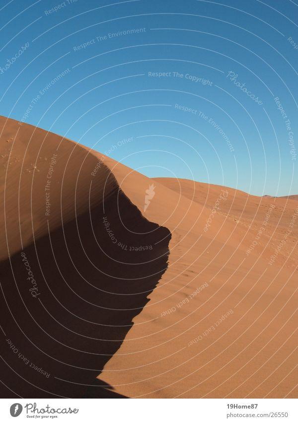 Sun Blue Yellow Death Warmth Sand Horizon Earth Corner Africa Desert Physics Beach dune Go up