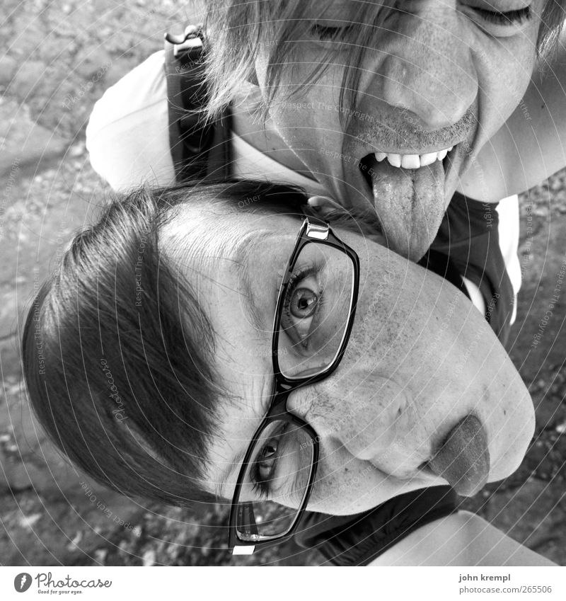 Human being Youth (Young adults) Adults Love Eroticism Young woman Happy Funny Young man Couple Together 18 - 30 years Crazy Cool (slang) Eyeglasses