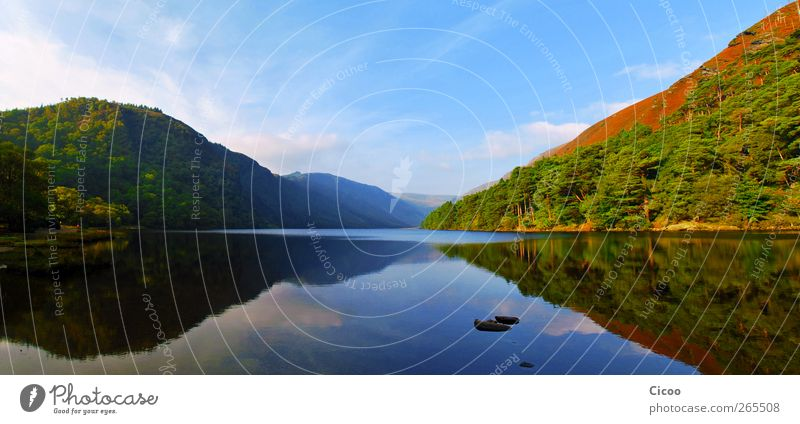 Glendalough - A Look In The Mirror Vacation & Travel Summer vacation Environment Nature Landscape Air Sky Clouds Horizon Beautiful weather Tree Forest Hill