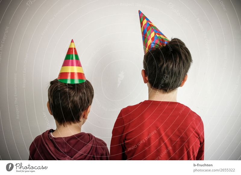Child Human being Joy Dark Funny Feasts & Celebrations Playing Party Friendship 2 In pairs Retro Infancy Culture Stand Happiness