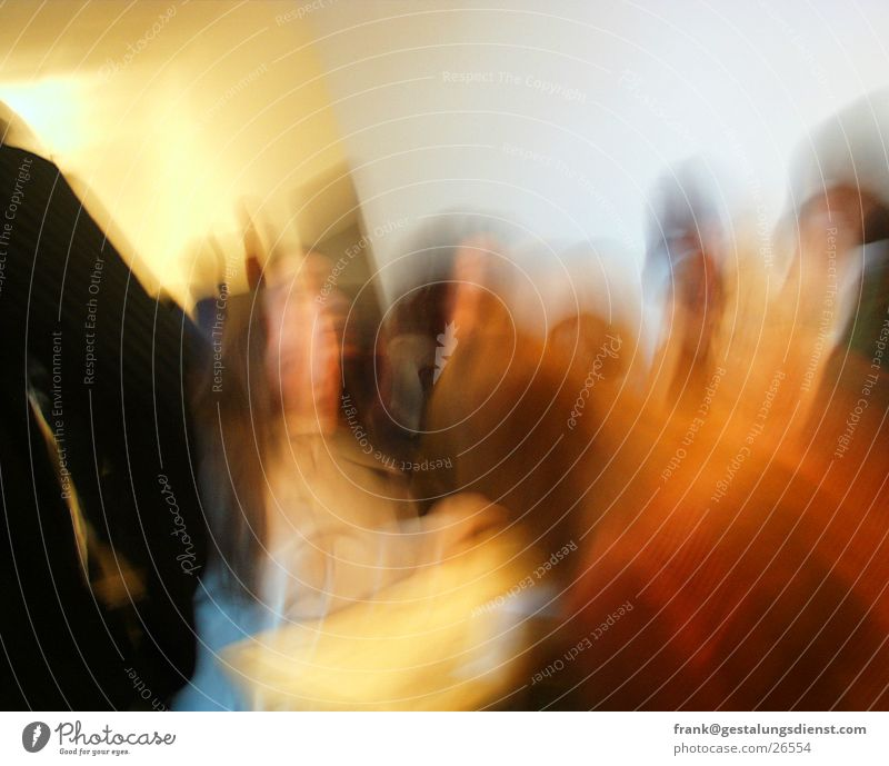 Teens in Motion Group Encounter Long exposure Human being Student Movement Feasts & Celebrations Blur