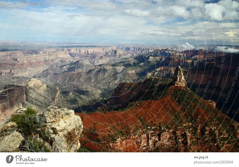 peak view Vacation & Travel Tourism Trip Adventure Far-off places Nature Landscape Canyon Exceptional Famousness Gigantic Blue Brown Green White Enthusiasm