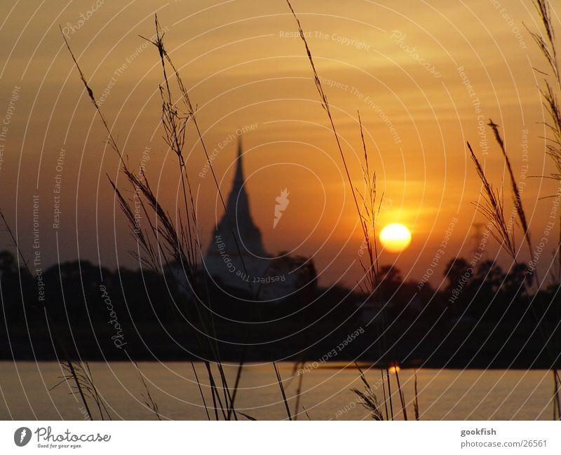 sun temple Temple Thailand Success Sun Evening Angkor Wat ayuttaya Sunset