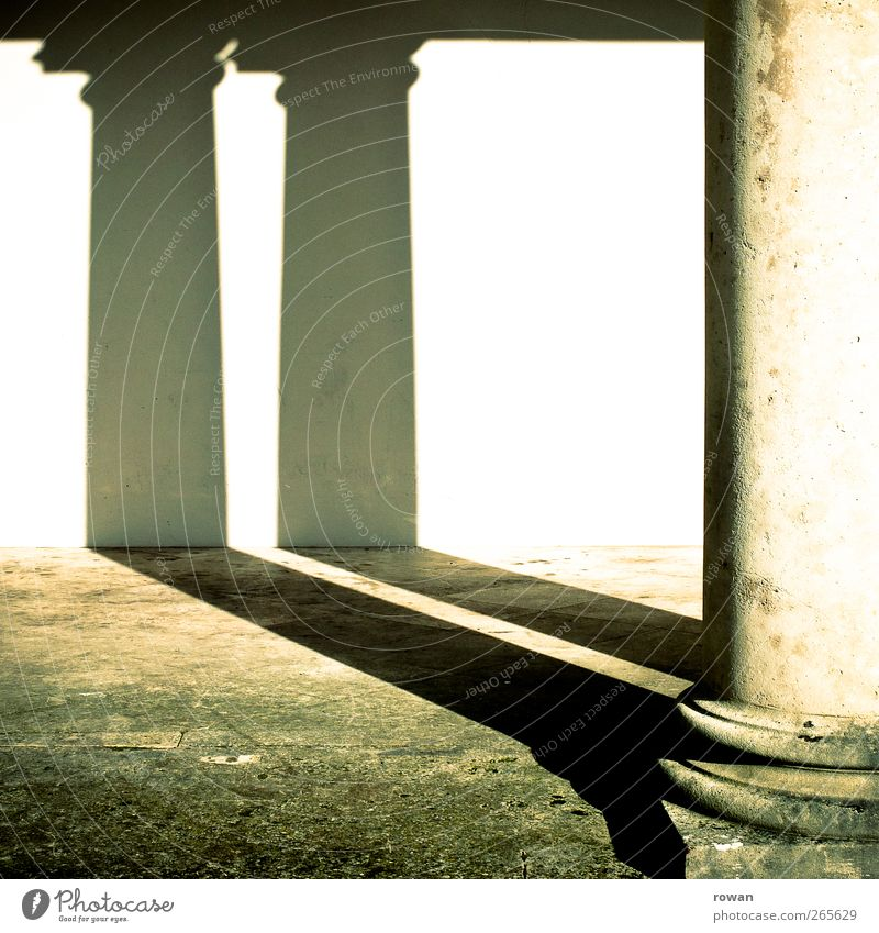 twin Manmade structures Building Architecture Wall (barrier) Wall (building) Facade Old Historic Calm Shadow Column Doric style Round 2 Twin In pairs Ancient