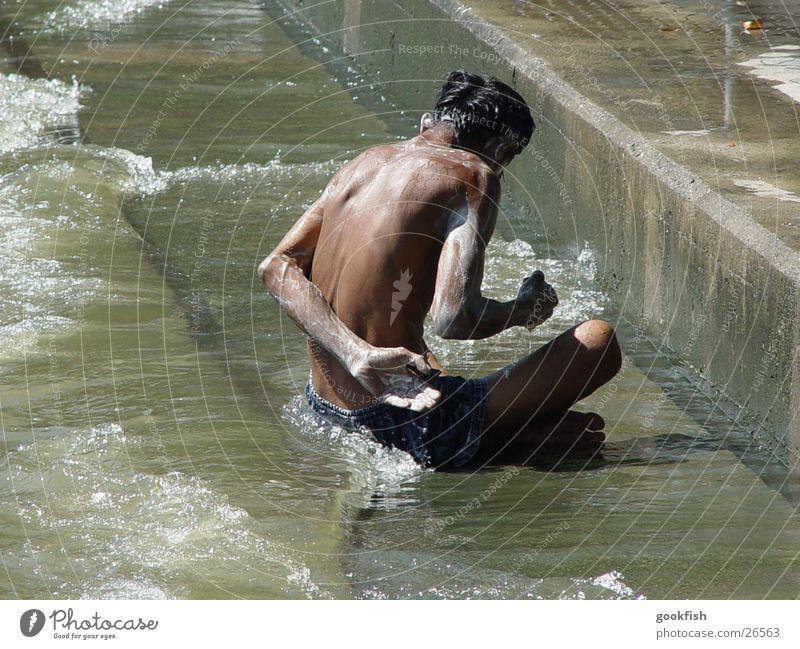 Man Sun Brown Dirty River Thailand Wash Soap Bangkok