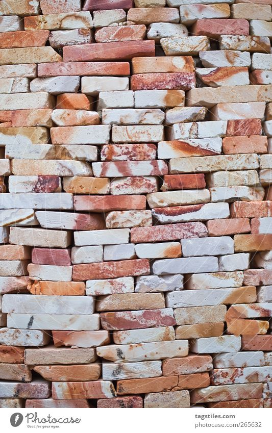 Old Wall (building) Stone Wall (barrier) Orange Background picture Closed Derelict Brick Craft (trade) Build Block Brick wall Bricklayer Building stone Stone wall