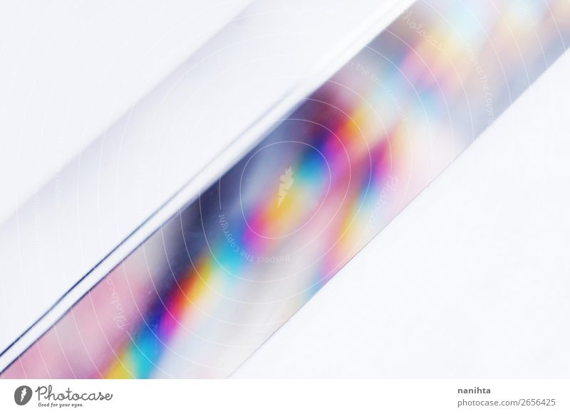 macro with space and clearness about a crystal prism Beautiful White Design Bright Esthetic Creativity Idea Simple Infinity Depth of field Wallpaper Material