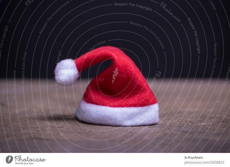 Christmas hat Room Feasts & Celebrations Christmas & Advent Cap Stand Dark Red Santa Claus Santa Claus hat Individual Doomed Salutation Tabletop Black