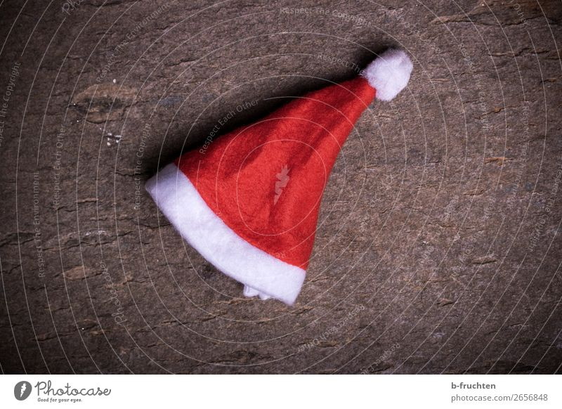 ho ho ho Feasts & Celebrations Christmas & Advent Accessory Cap Lie Red Emotions Moody Boredom Fiasco Santa Claus hat Doomed Forget Ground Board Individual