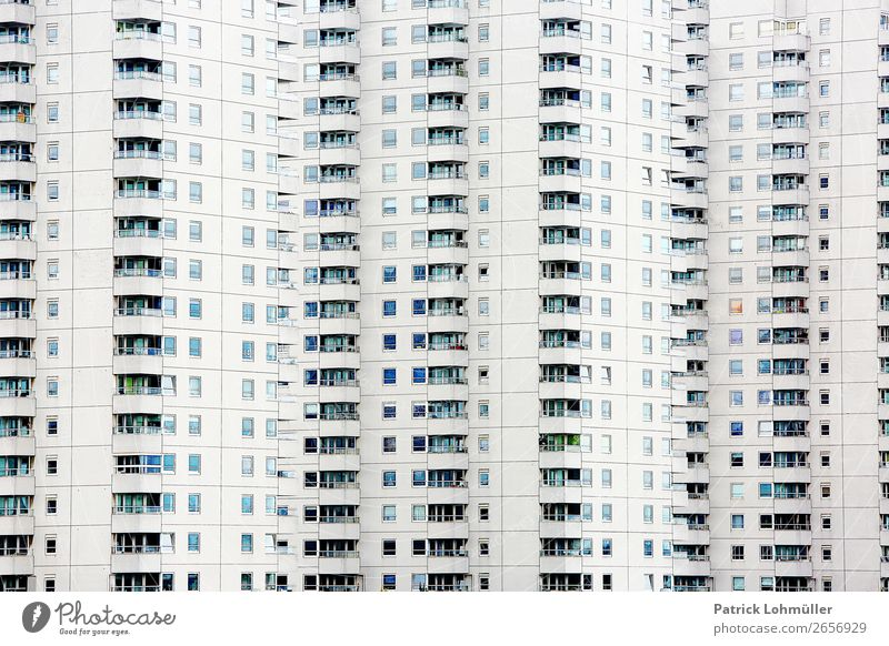 Town White House (Residential Structure) Loneliness Dark Architecture Cold Building Exceptional Facade Living or residing Flat (apartment) Europe High-rise
