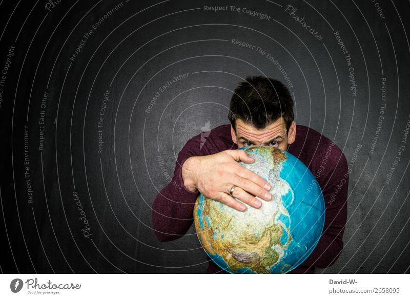 Human being Nature Youth (Young adults) Man Young man Hand Face Eyes Adults Life Environment Art Earth Masculine Observe Climate