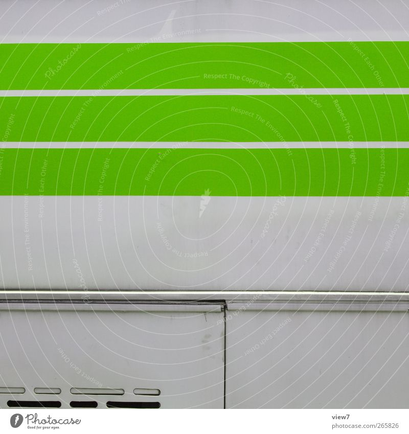 green cattle Wall (barrier) Wall (building) Facade Transport Bus Site trailer Metal Line Stripe Old Authentic Thin Simple Healthy Free Friendliness Happiness