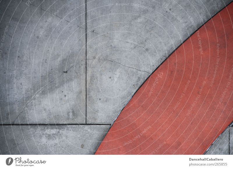 CA l red in grey Wall (barrier) Wall (building) Lanes & trails Concrete Sharp-edged Uniqueness Design Structures and shapes Red Gray Exceptional Trend-setting