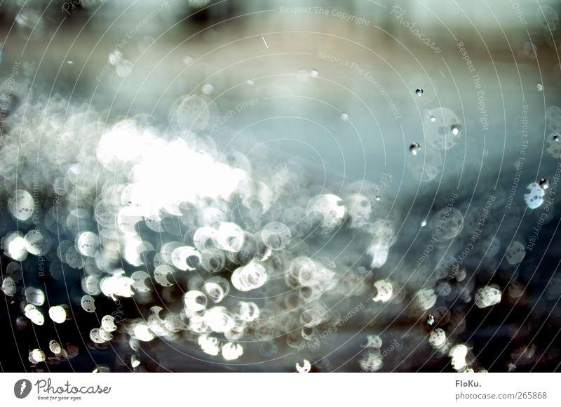 Nature Blue Beautiful Water Emotions Moody Rain Esthetic Drops of water Wet Round Kitsch Fluid Damp Splash Reflection