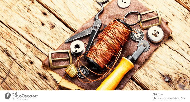 Tools for leather craft handmade tool manual work workshop handicraft shoemaker repair old hobby manufacturing craftsman retro workmanship equipment creation