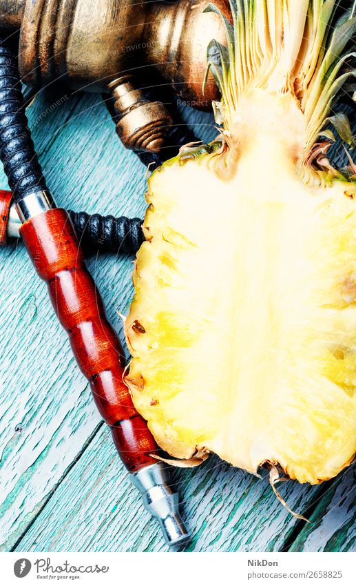 Stylish pineapple shisha hookah tobacco fruit smoke bowl smoke shisha mouthpiece hookah pipe smoking relaxation hookah lounge arabic turkish east style arabia