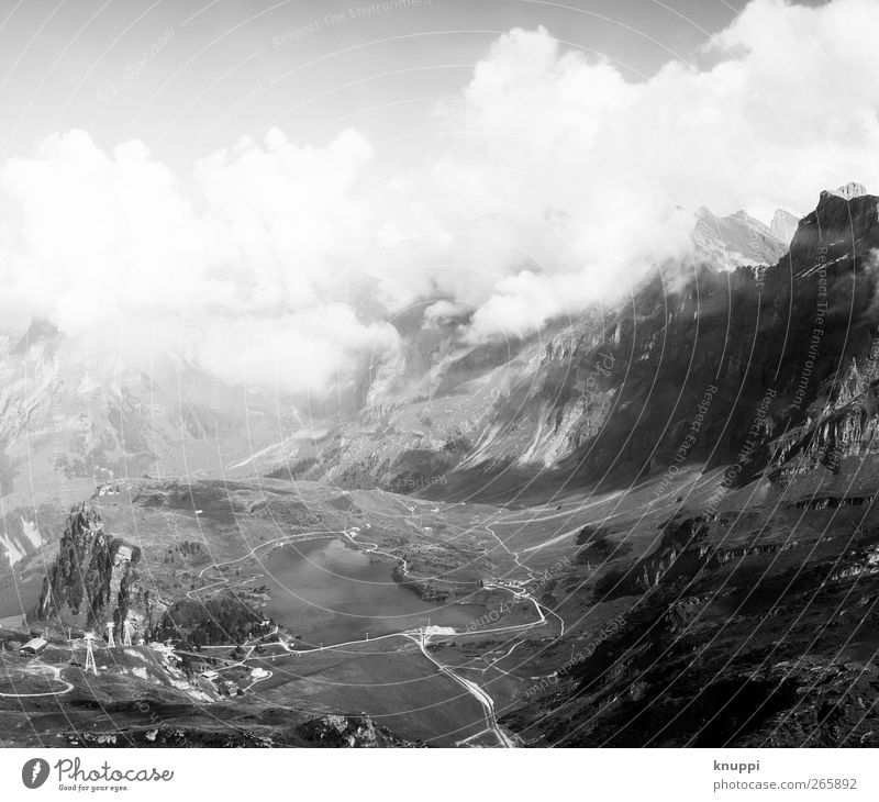 Sky Nature White Summer Clouds Black Environment Landscape Mountain Gray Air Wild Hiking Alps Beautiful weather Infinity
