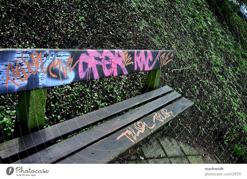 Colour Graffiti Dirty Bench Things Spray Tagger