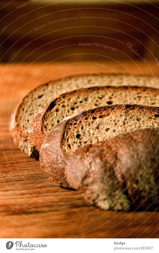 sliced bread Food Dough Baked goods Bread Organic produce Authentic Delicious Brown Appetite Partially visible Slice of bread Wooden board Brunch