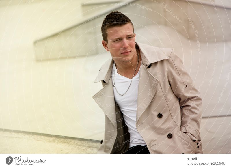 Human being Youth (Young adults) Beautiful Adults Fashion Sit Masculine 18 - 30 years Cool (slang) Young man Jacket