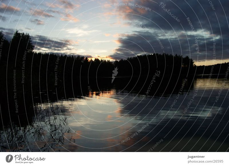 Water Sky Clouds Lake Lighting Finland