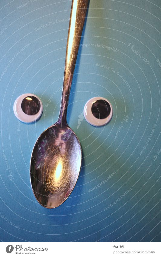 Wackel spoon Wooden spoon Steel Happiness Skeptical Eyes wobbly eyes Wobble Insecure Interior shot